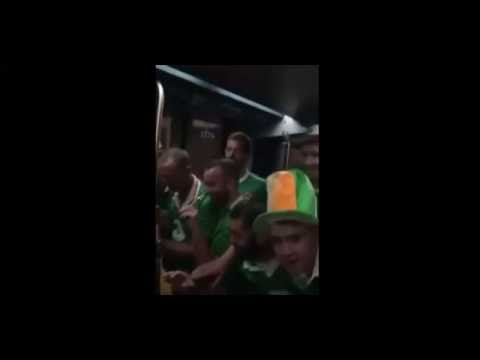 Irish Fans Sing French Baby To Sleep, Train In France