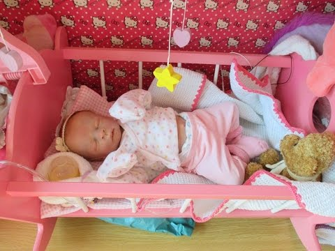 Cleaning and dressing my preemie reborn doll