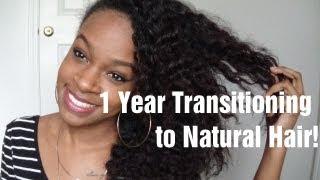 HAIR   1 Year Transitioning to Natural Hair!