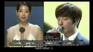 Park Shin Hye & Jung Yong Hwa Moments at Baeksang Arts Awards 2015