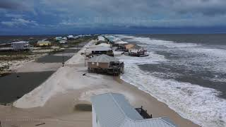 09-14-2020 Dauphin Island, AL - Vehicles Stuck Hurricane Sally Drone