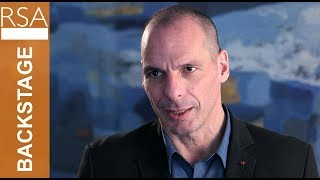 Backstage with Yanis Varoufakis