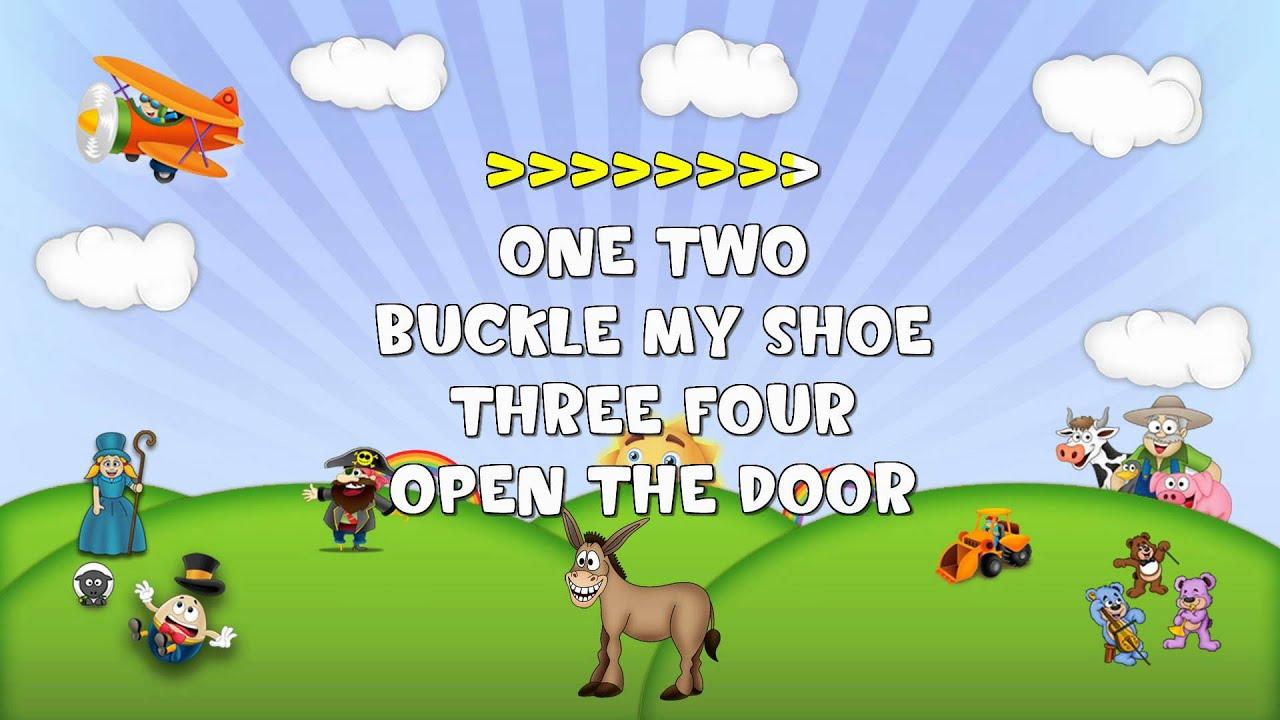 One Two Buckle My Shoe Sing 2 Me Nursery Rhyme Karaoke