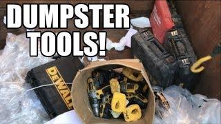 Dumpster DeWalt Drills  - Free Tools in the dumpster!