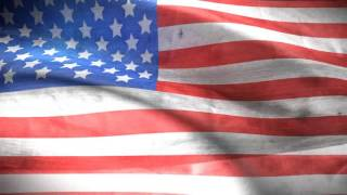 National Anthem Of Usa With Animated Flag