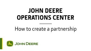 Operations Center  How to create a partnership