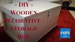 DIY - Wooden Box For Storage And Decoration. // Puinen laatikko säilytys- ja sisustus esineeksi.