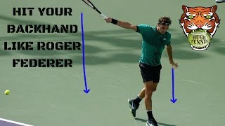 How To Hit Your Backhand Like Roger Federer