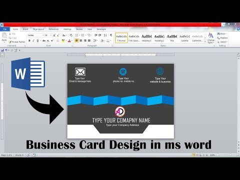 How to make business card design in ms word    make awesome business card design in ms word    thumbnail