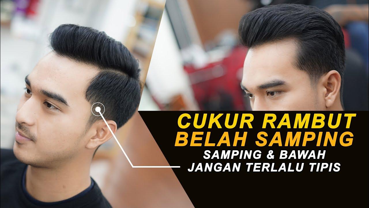 Nyukur Rambut Belah Samping Side Part Taper Haircut Youtube