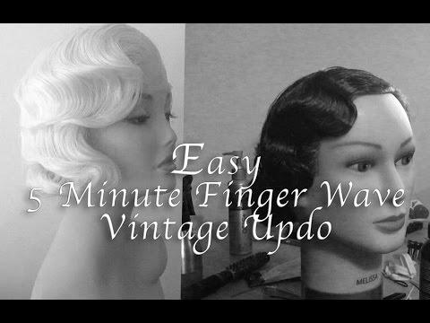 Easy 5 Minute Finger Wave Vintage Updo Tutorial