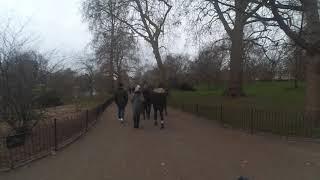 영국 런던 걷기 세인트 제임스 파크 - 버킹엄 궁전