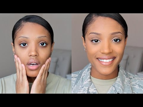 Military Makeup 2015- Get Ready With Me (Work Edition)