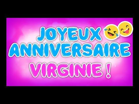 Joyeux Anniversaire Virginie Happy Birthday Youtube