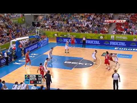 Eurobasket 2013: Nicolò Melli vs Turkey / Sep. 5th, 2013