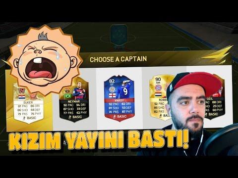 KIZIM YAYINI BASTI :) - FIFA 16 FUT DRAFT