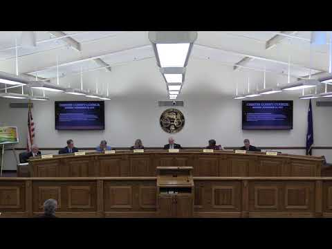 Chester County Council Meeting Part A 11-20-2017