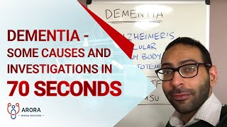 Dementia - some causes and investigations in 70 seconds... #aroraBites
