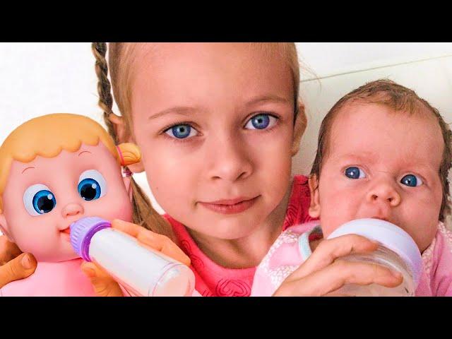 Майа хочет быть как мама - История с игрушками для детей