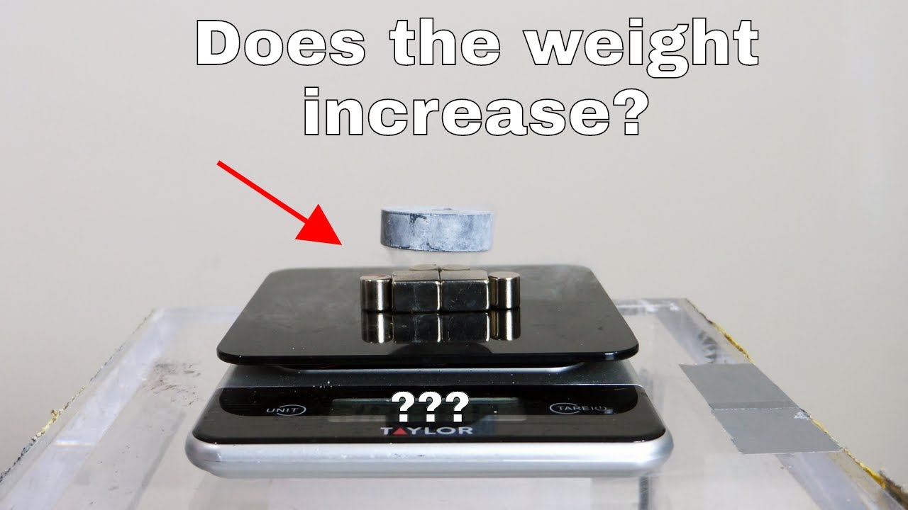 Does The Weight Increase When You Levitate a Superconductor on a Scale?