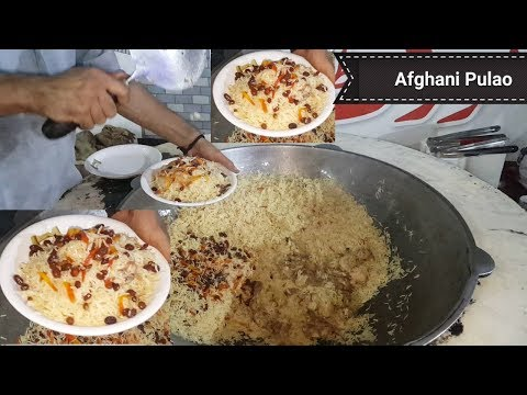 Afghani Pulao Restaurant Recipe | Street Food of Karachi Pakistan