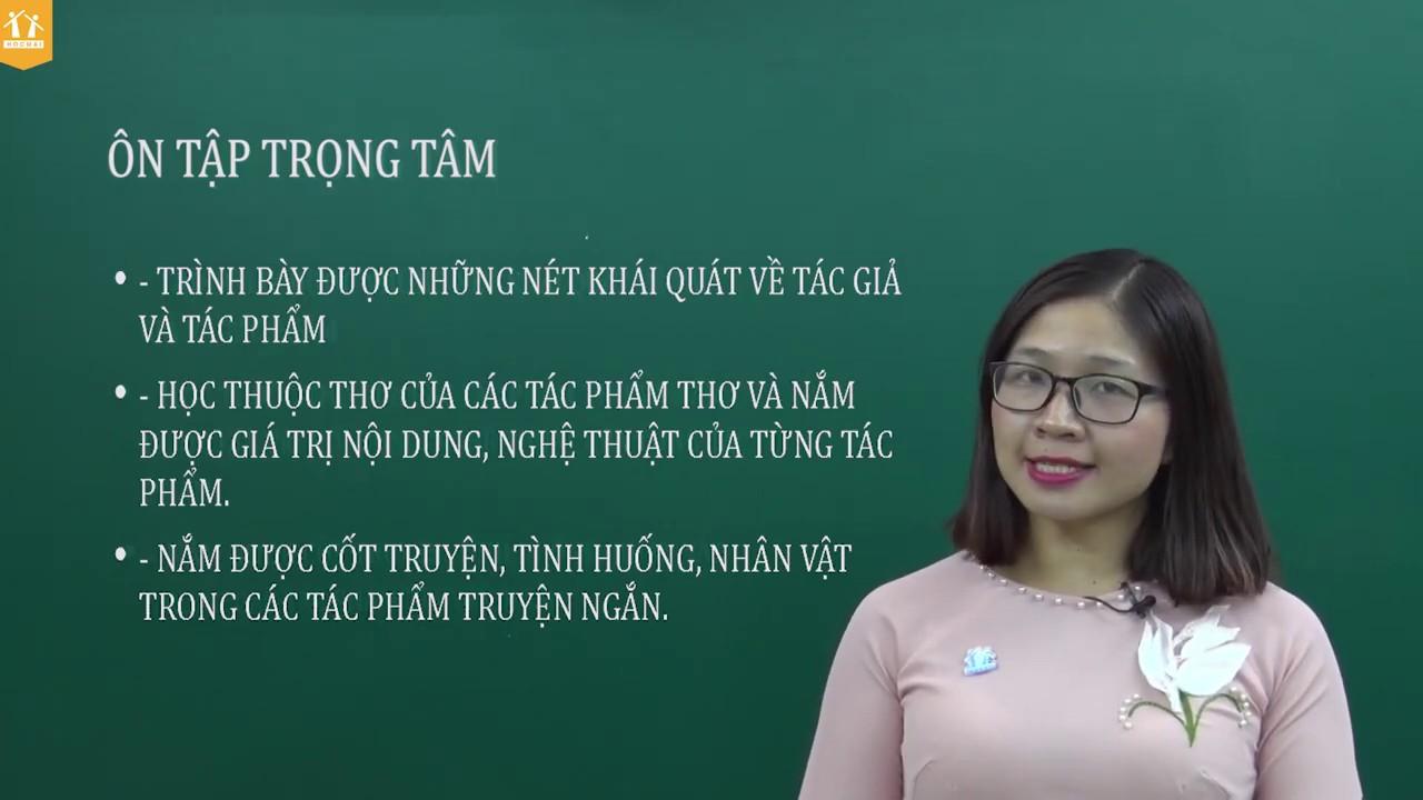 Nội dung kiến thức trọng tâm ôn thi học kì I – Ngữ văn 9 – Cô Nguyễn Thị Thu Trang – HOCMAI