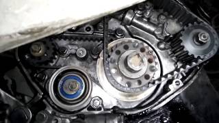 'ГТ' Установочные метки ГРМ на двигателе 4D68T - от Mitsubishi..
