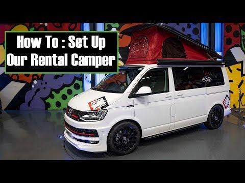 HOW TO SET UP VW CAMPER VAN ROCK & BED POP TOP ROOF