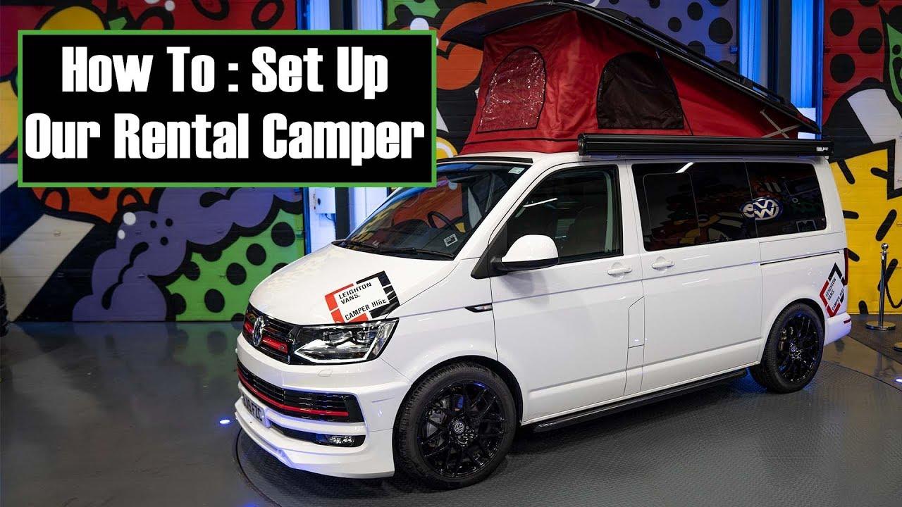 HOW TO SET UP VW CAMPER VAN ROCK & BED POP TOP ROOF - YouTube