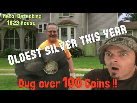 Gobs of old coins & silver! - Metal Detecting the oldest house in town, 1823!