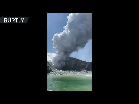 Plumes of smoke as New Zealand's most active volcano erupts, 1 confirmed dead