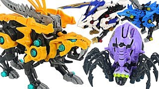 Zoids Wild ZW18 insect Spideath, ZW19 beast Fang Tiger VS bad dinosaur zoids! #DuDuPopTOY
