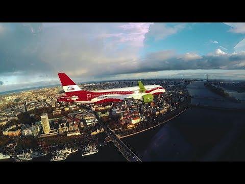 AirBaltic Celebrates #Latvia100 With Formation Flight Over Riga