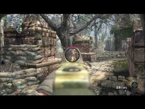 Call of Duty Black Ops Team Deathmatch 13 Jungle 38-2 (Commando Red Dot Sight)