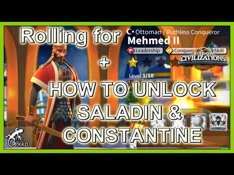 Can We Get Mehmed II? How To Get Saladin & Constantine - Rise Of Civilizations