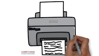 How to draw a printer for kids step by step