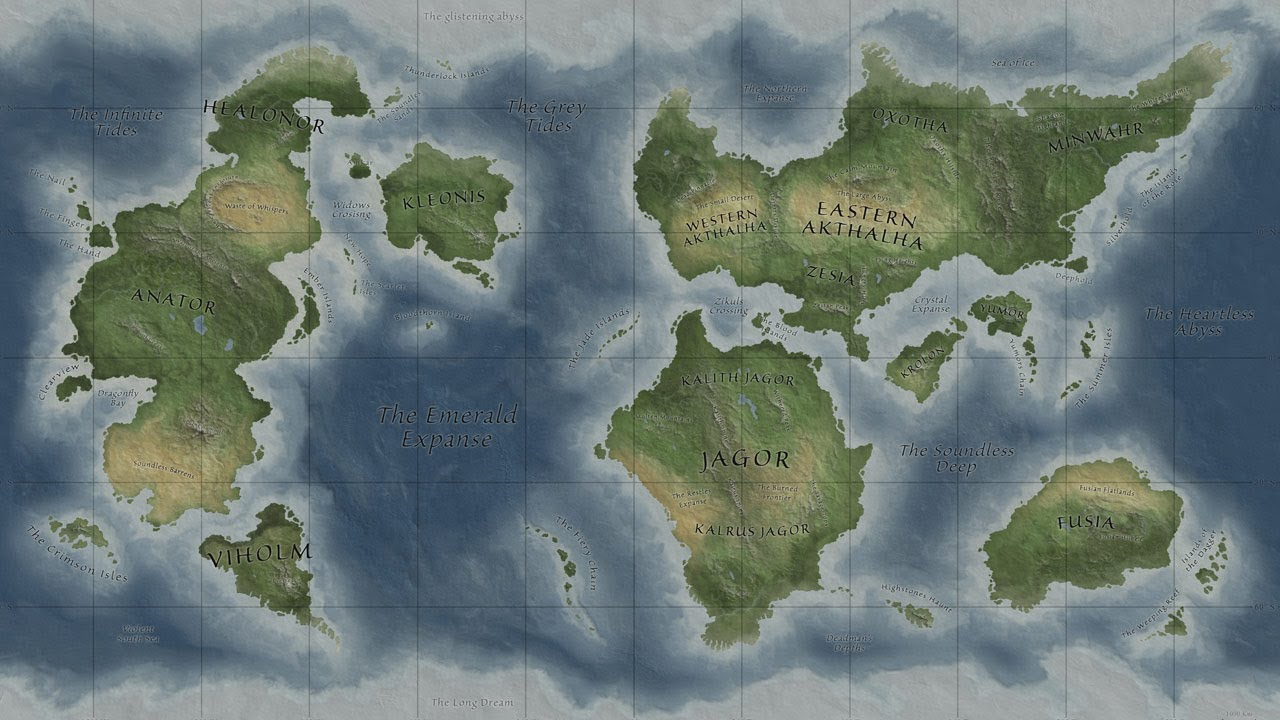 blank fantasy world map Timelapse Fantasy Map In Photoshop Youtube blank fantasy world map