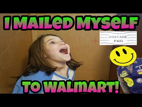 I Mailed Myself To Walmart In A Box And It Worked! Skit