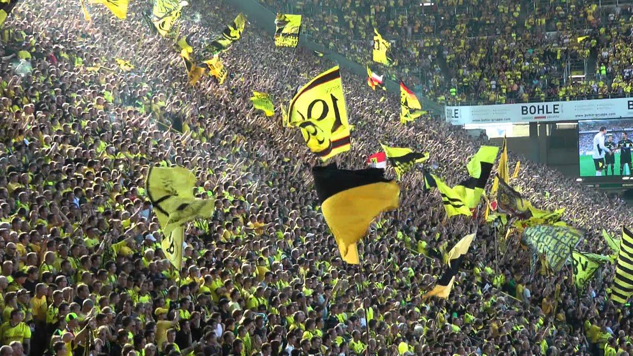 Borussia Dortmund - FC Augsburg 4-0 Einlauf Stimmung BVB