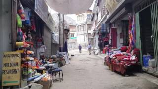 Alley around market of Leh Ladakh, India