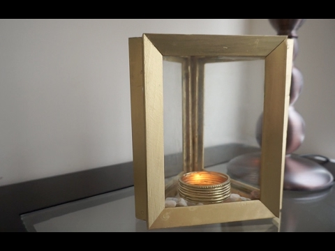 Turn Old Photo Frames into Centerpieces/DIY Candle Holder
