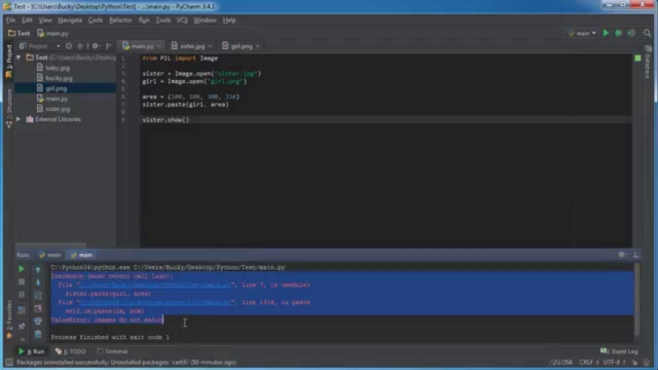 Python Programming Tutorial - 44 - Combine Images Together