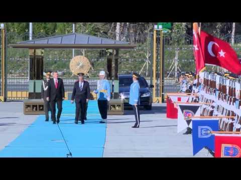KKTC Cumhurbaşkanı Akıncı Cumhurbaşkanlığı Sarayı'nda| 06.05.15