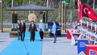 KKTC Cumhurbaşkanı Akıncı Cumhurbaşkanlığı Sarayı'nda