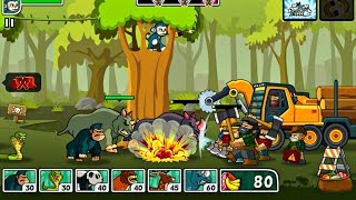 lumberwhack defend the wild official trailer side scrolling tower defense game for android ios