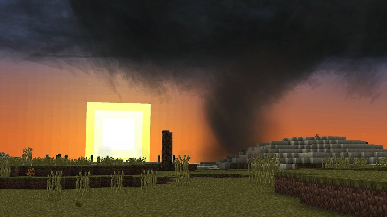 майнкрафт гіганський торнадо видио #3