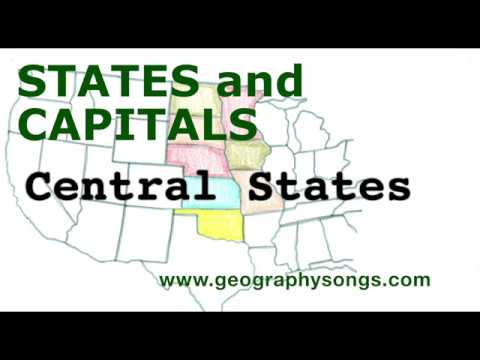 US States and Capitals, Central States