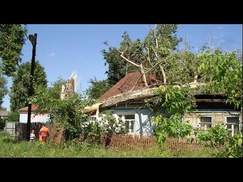 Последствия урагана в г. Камешково в 2009 году