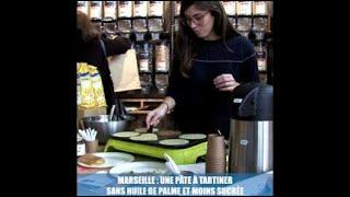 Marseille : une pâte à tartiner  sans huile de palme et moins sucrée (carré)