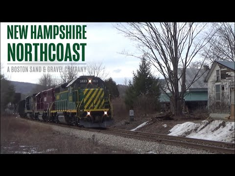 Aggregate Hauling in the Granite State | New Hampshire Northcoast Railroad operations (1/18/21)